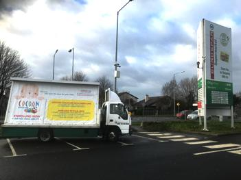 cocoon childcare mobile advert